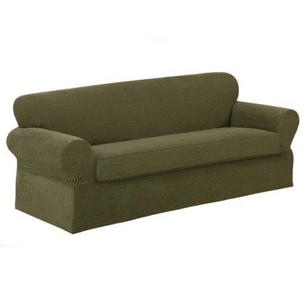 Carter 2 Piece Loveseat Slipcover Olive