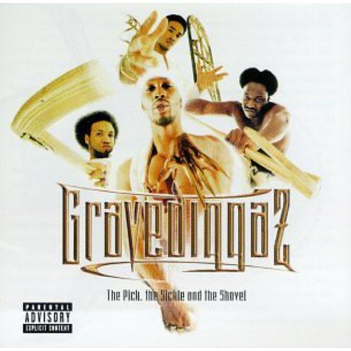 """Gravediggaz: RZA, Prince Paul """"Dr. Strange"""", Frukwan """"Da Gatekeeper"""", Poetic """"Grym Reaper"""" (vocals).<BR>Additional personnel: Shabazz The Disciple, Omen, The Aleem Brothers, Killah Priest, 9th Prince, Sunz Of Man (vocals); Ian Berkeley (keyboards); Helis Rogers, Blue Rasberry (background vocals).<BR>Producers include: RZA, Fourth Disciple, Truemaster, Poetic, Goldfinghaz.<BR>When the Gravediggaz first stepped onto the scene, they shocked listeners with their horror-core hip-hop.  The group comprises four MCs, The RZA, Frukwan, Poetic and Prince Paul, each already known for their thoughtful lyrical content.  On their sophomore album, THE PICK, THE SICKLE, & THE SHOVEL, the Gravediggaz are out to resurrect the minds of the mentally deceased, as they did with their debut, SIX FEET DEEP.<BR>The RZA's haunting production is the perfect complement for the topics tackled by the group.  The Gravediggaz don't just rap, they preach.  Their topics range from the """"Unexplained"""" to their own brand of """"Fairytalez.""""  With their distinctive, left-field style, the foursome are the only MCs in hip-hop who forgo """"keeping it real"""" in favor of """"keeping it surreal."""""""