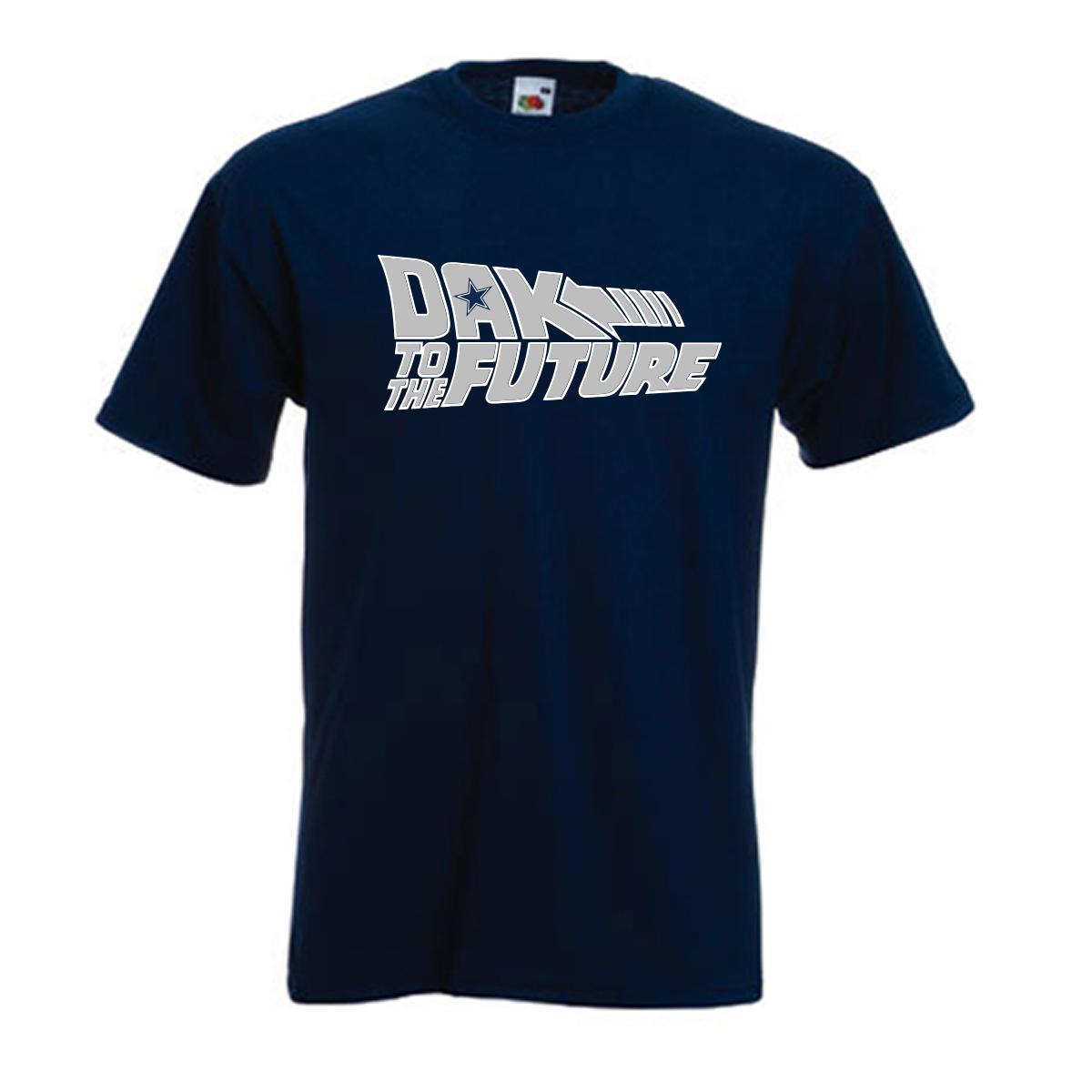 "Shedd Shirts Navy Dak Prescottt Dallas Cowboys ""Dak to the Future"" Youth Medium T-Shirt"