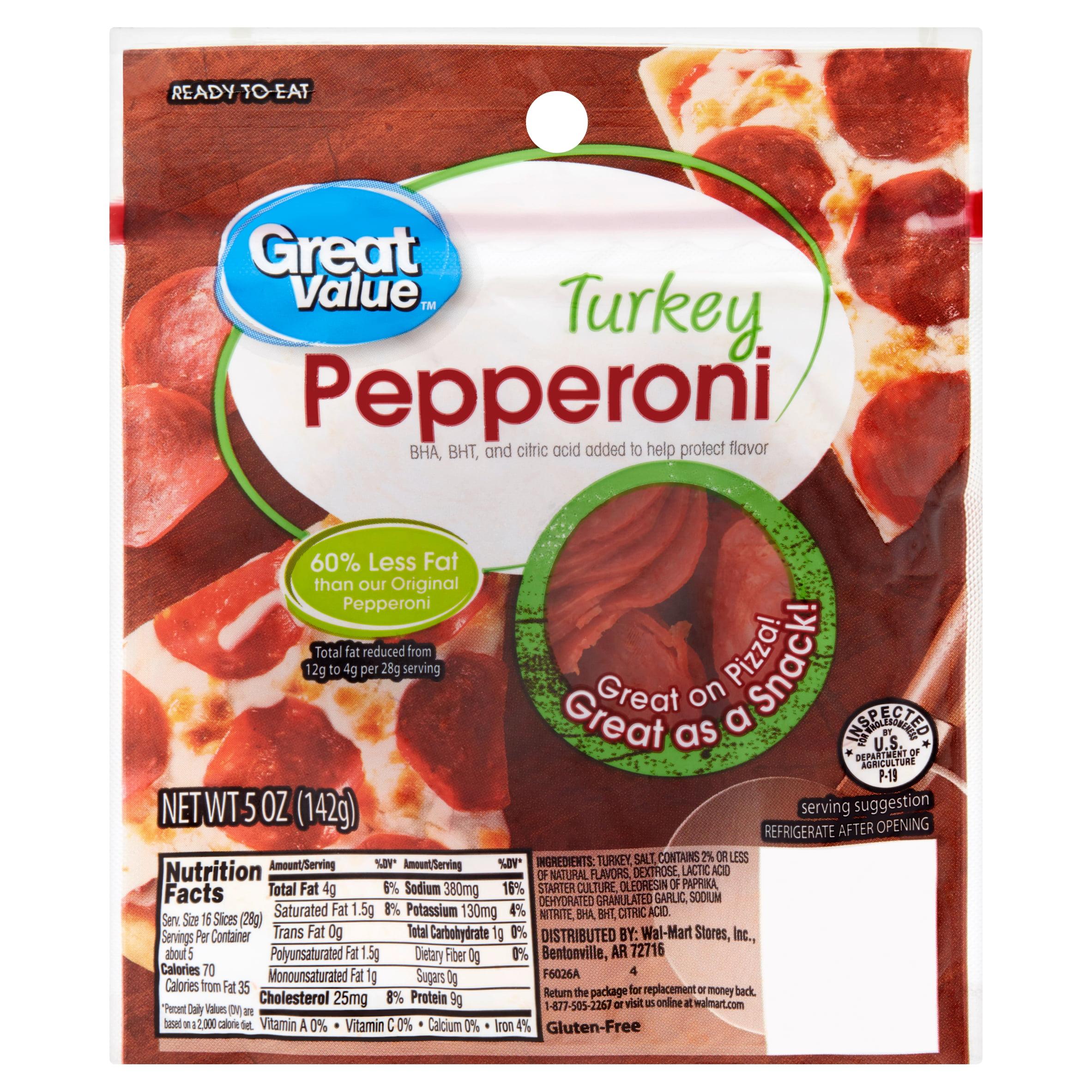 Great Value Turkey Pepperoni, 5 Oz