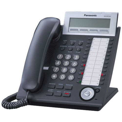 Panasonic KX-NT343-B Headset Compatible Hybrid Corded IP ...