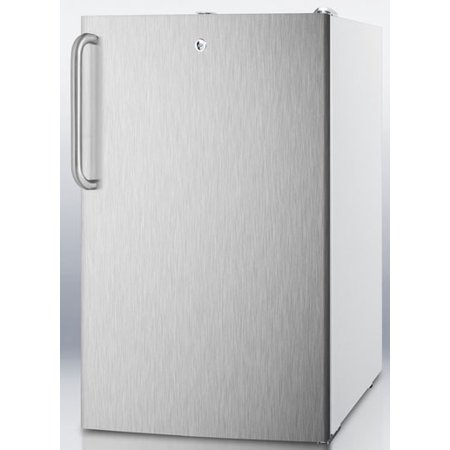 Cm411lbisstb 20  Medically Approved Compact Refrigerator With 4 1 Cu  Ft  Capacity  Professional Towel Handle  Interior Light And Crisper Drawer  In Stainless Steel