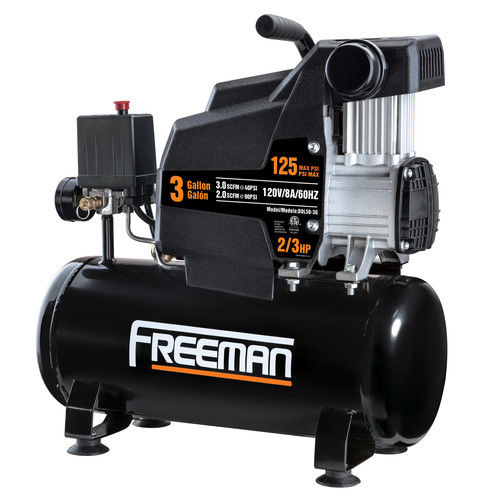 Freeman TA3GCOMP 1 HP 3 Gallon Oil-Free Hot Dog Air Compressor