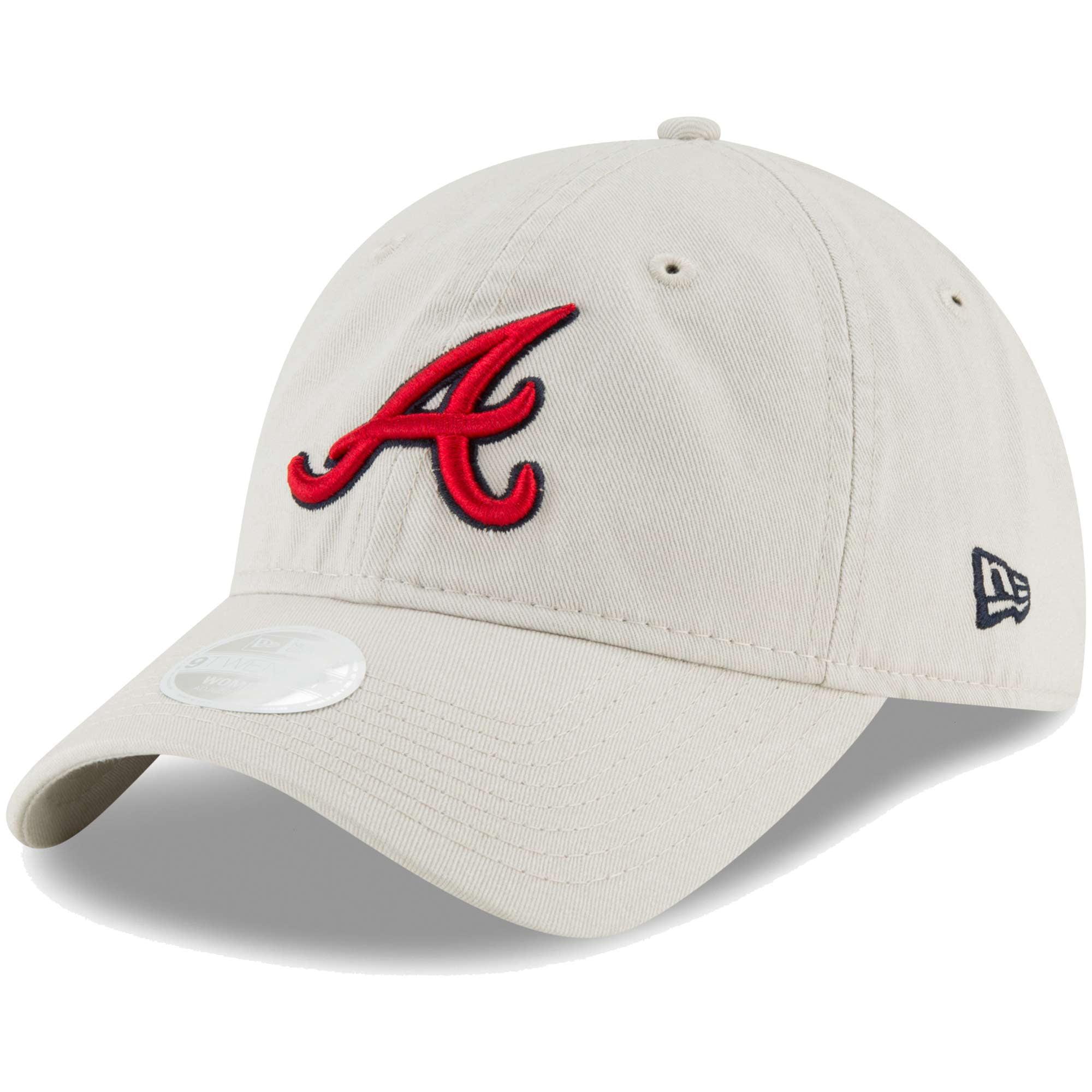 Atlanta Braves New Era Women's Core Classic Twill 9TWENTY Adjustable Hat - Cream - OSFA