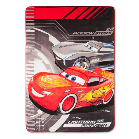 Cars Lightening McQueen VS Jackson Storm Bed Blanket 62 x - Jackson Blanket