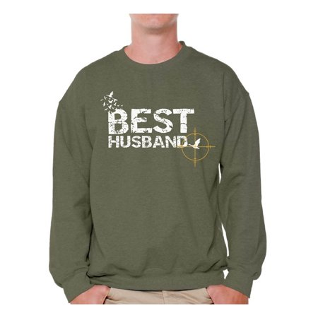 Awkward Styles Best Hunter Husband Crewneck for Him Hunting Sweatshirt for Men Hunting Accessories Clothes for Him Best Hunter Ever Men Sweater Best Husband Ever Crewneck Anniversary Gifts for