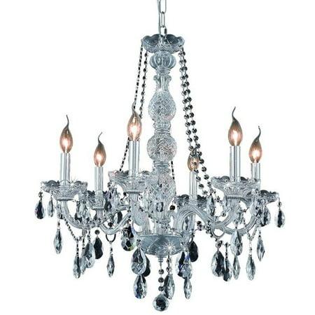 "Elegant Lighting Verona 24"" 6 Light Spectra Crystal Chandelier - image 1 de 1"