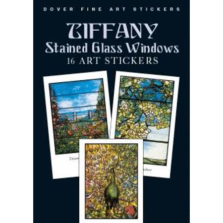 Tiffany Stained Glass Windows : 16 Art Stickers