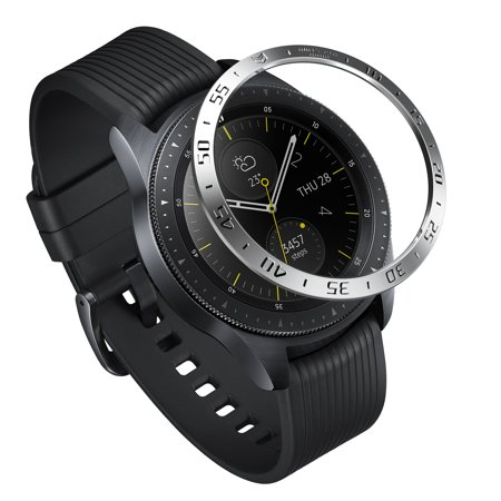 Ringke Bezel Styling for Galaxy Watch [42mm] / Gear Sport Bezel Ring Cover Anti-Scratch Protection - [Stainless] (Jlr Gear)