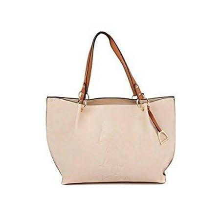 US Polo Assn. Womens Handbags Kingston Tote Shoulder Bag Beige - Walmart.com 4b893cbc51088