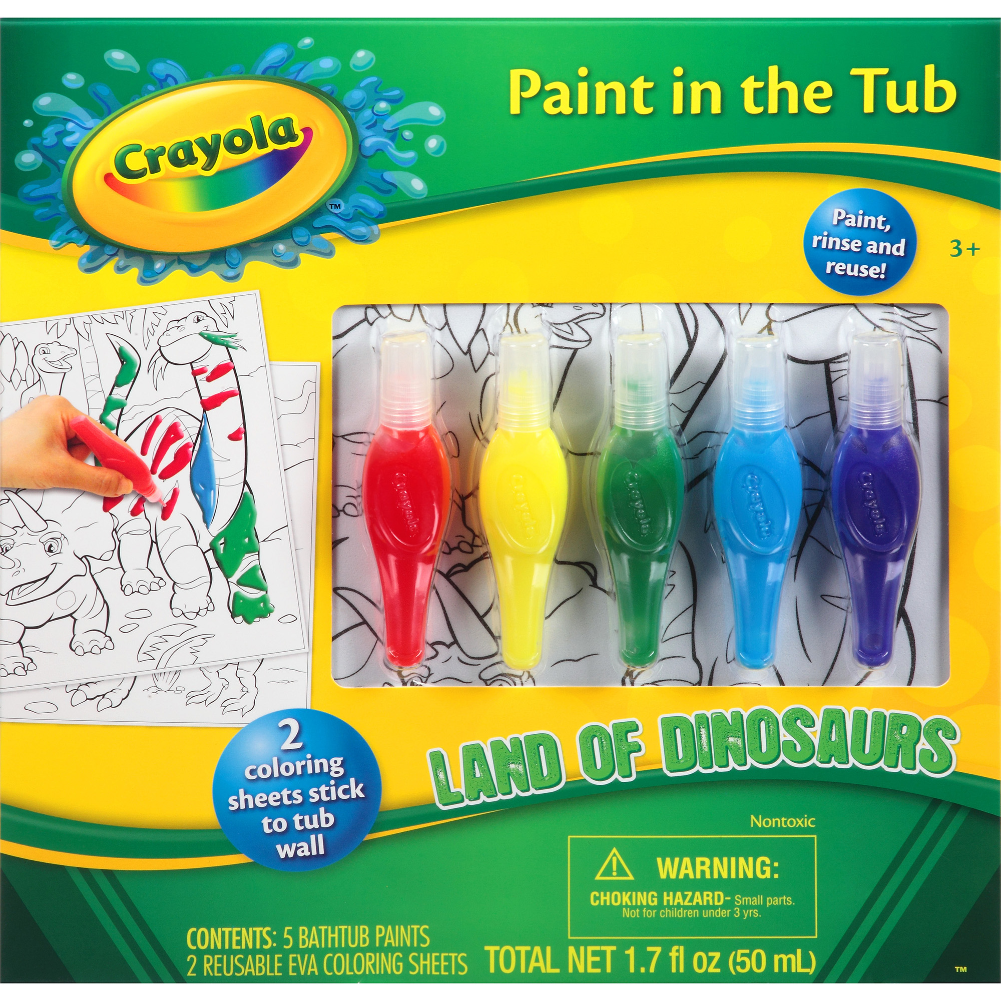 Crayola Paint in the Tub Set, 7 pc