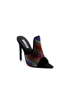 46568bfedda Product Image Cape Robbin Crystalize Open Toe Dress Pump - Black (6.5)