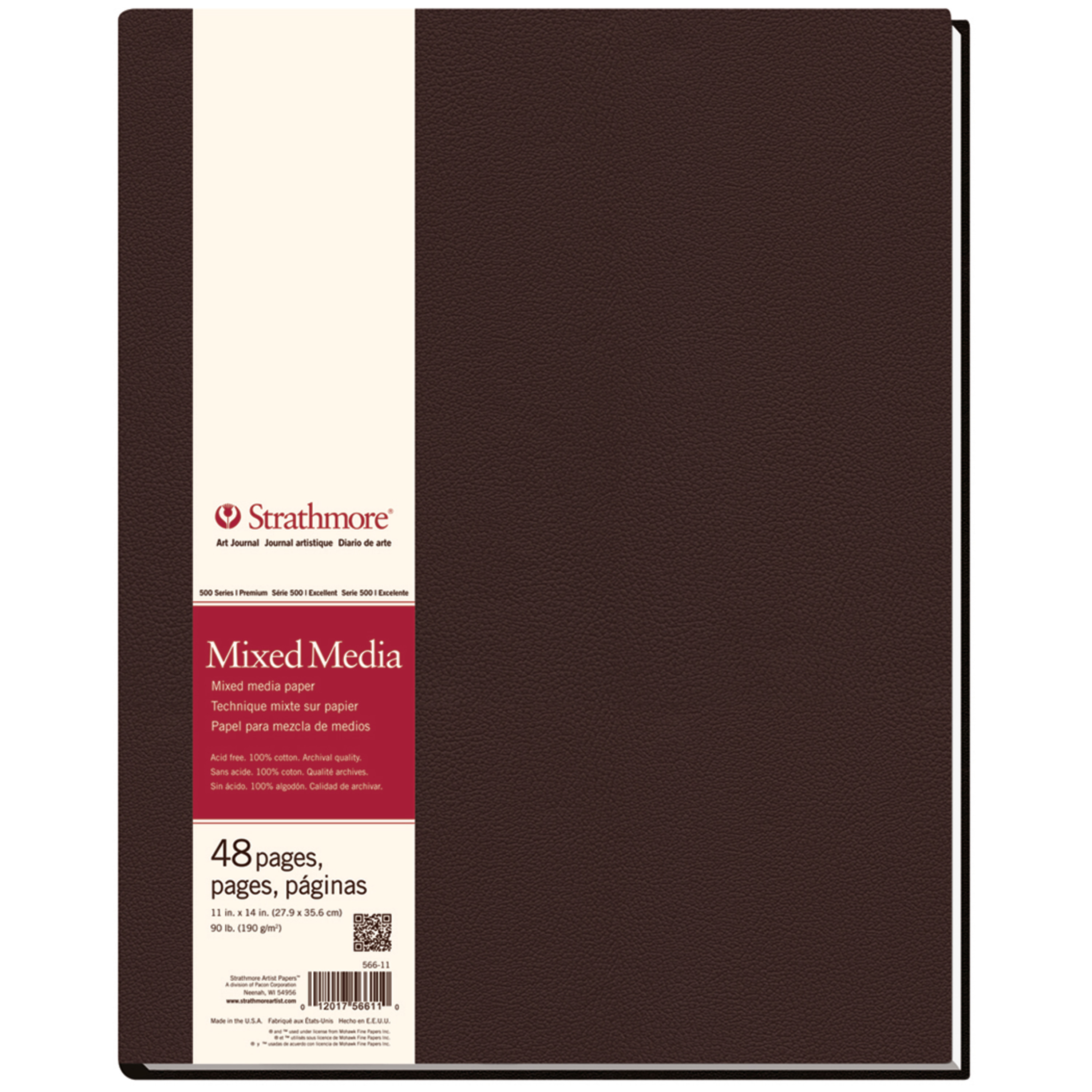 Strathmore Mixed Media Hardbound Art Journal, 500 Series, 11in x 14inin, 48 Pages