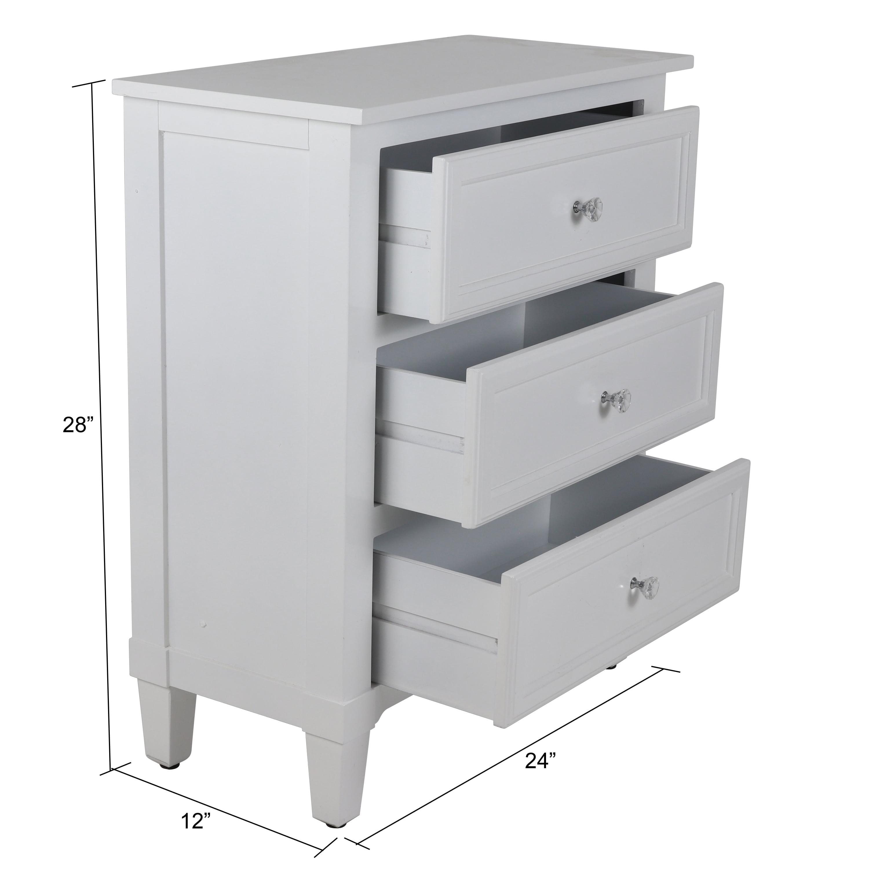 2b6ea76895 Beckett 3-Drawer Side Table - Walmart.com