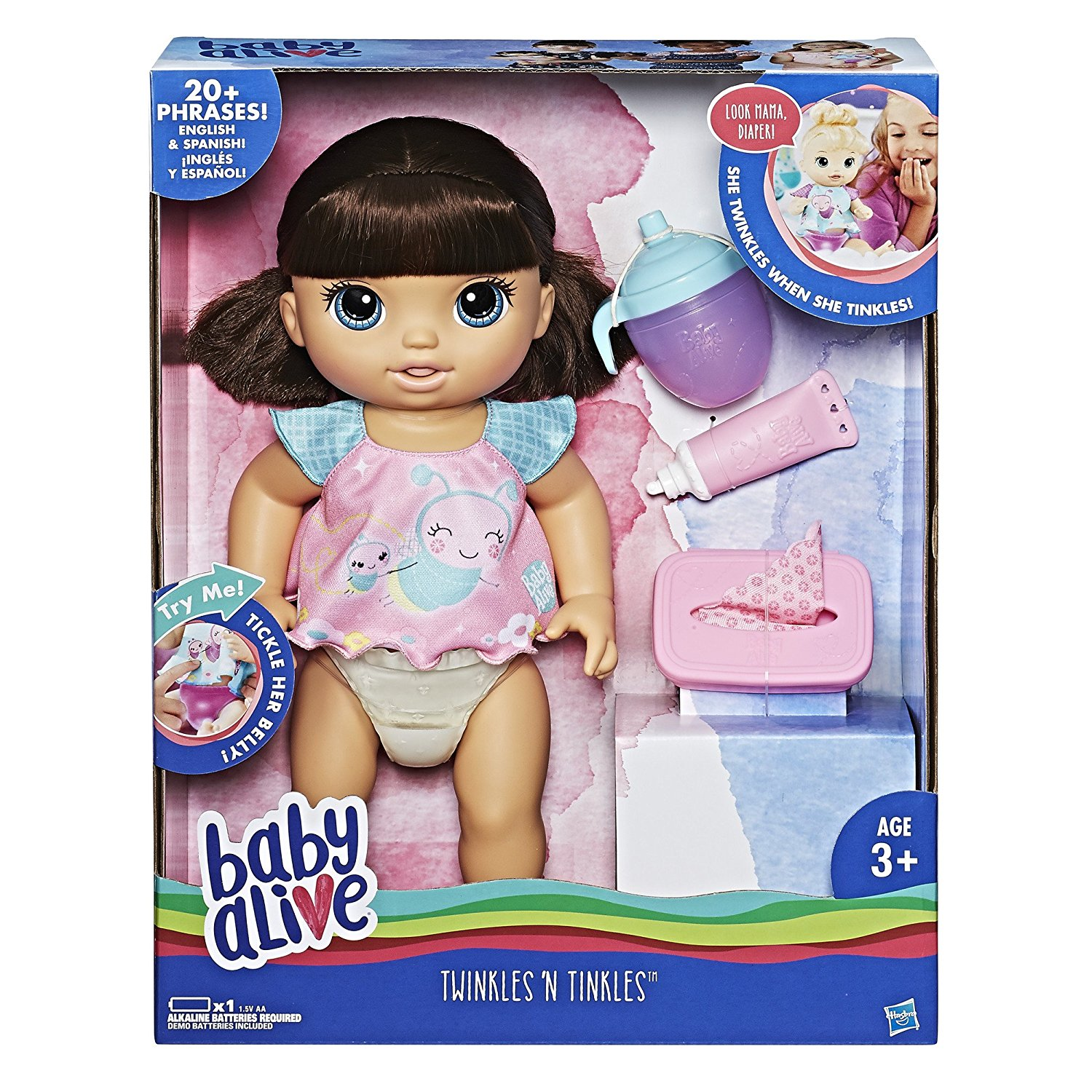Baby Alive Twinkles 'n Tinkles Baby Doll (Brunette) by Baby Alive