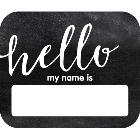 Style Name Tag - Industrial Chic Hello Name Tags (150063) Schoolgirl Style
