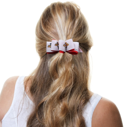 Florida Panthers Mary Loop Bow - Red/White - No Size