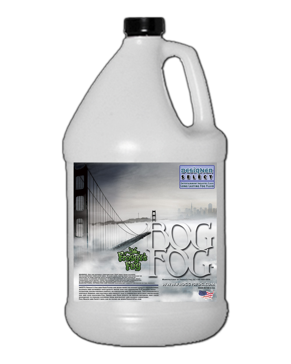 Bog Fog Extreme High Density Fog Juice HDF Fog Machine Fluid 1 Gallon by Froggy's Fog