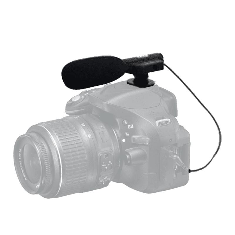 Canon EOS M6 Mirrorless Digital Camera Mini Zoom Microphone for Clear Audio Sound Vivitar MIC 403
