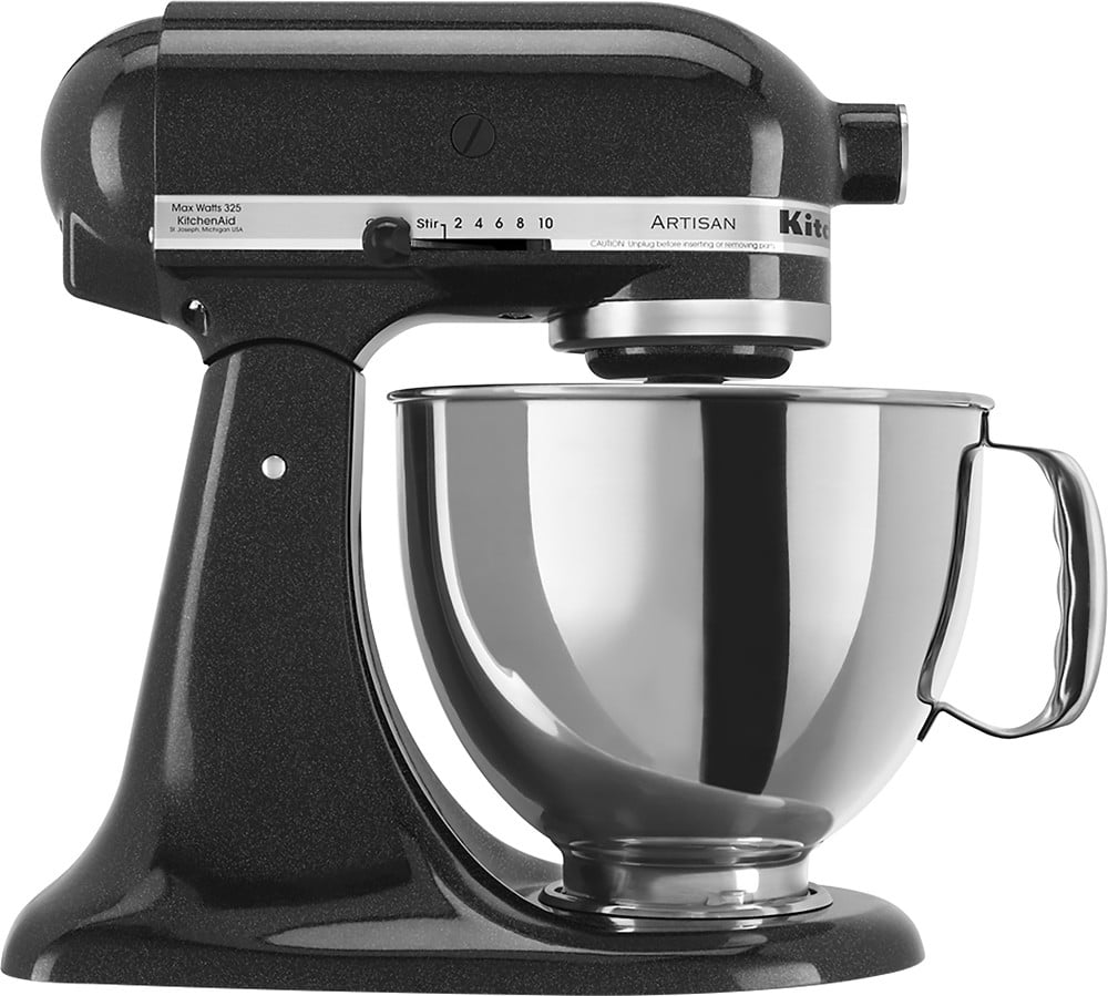 KitchenAid Artisan Series 5 Quart Tilt-Head Stand Mixer, Caviar (KSM150PSCV)