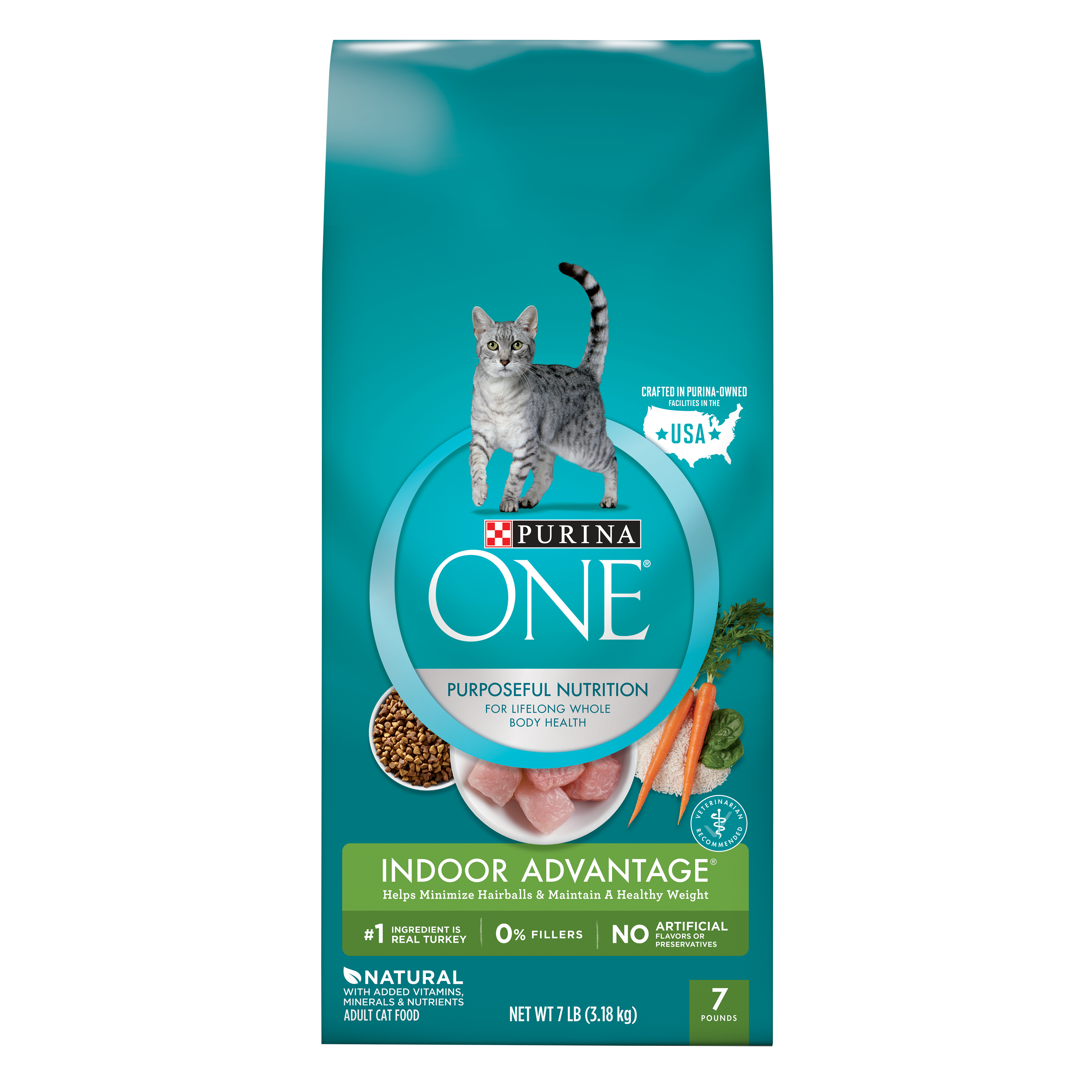 Purina ONE Indoor Advantage Adult Dry Cat Food, 7 lb