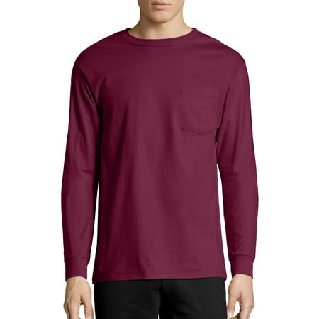 Hanes Big Men's Tagless Long Sleeve Pocket -