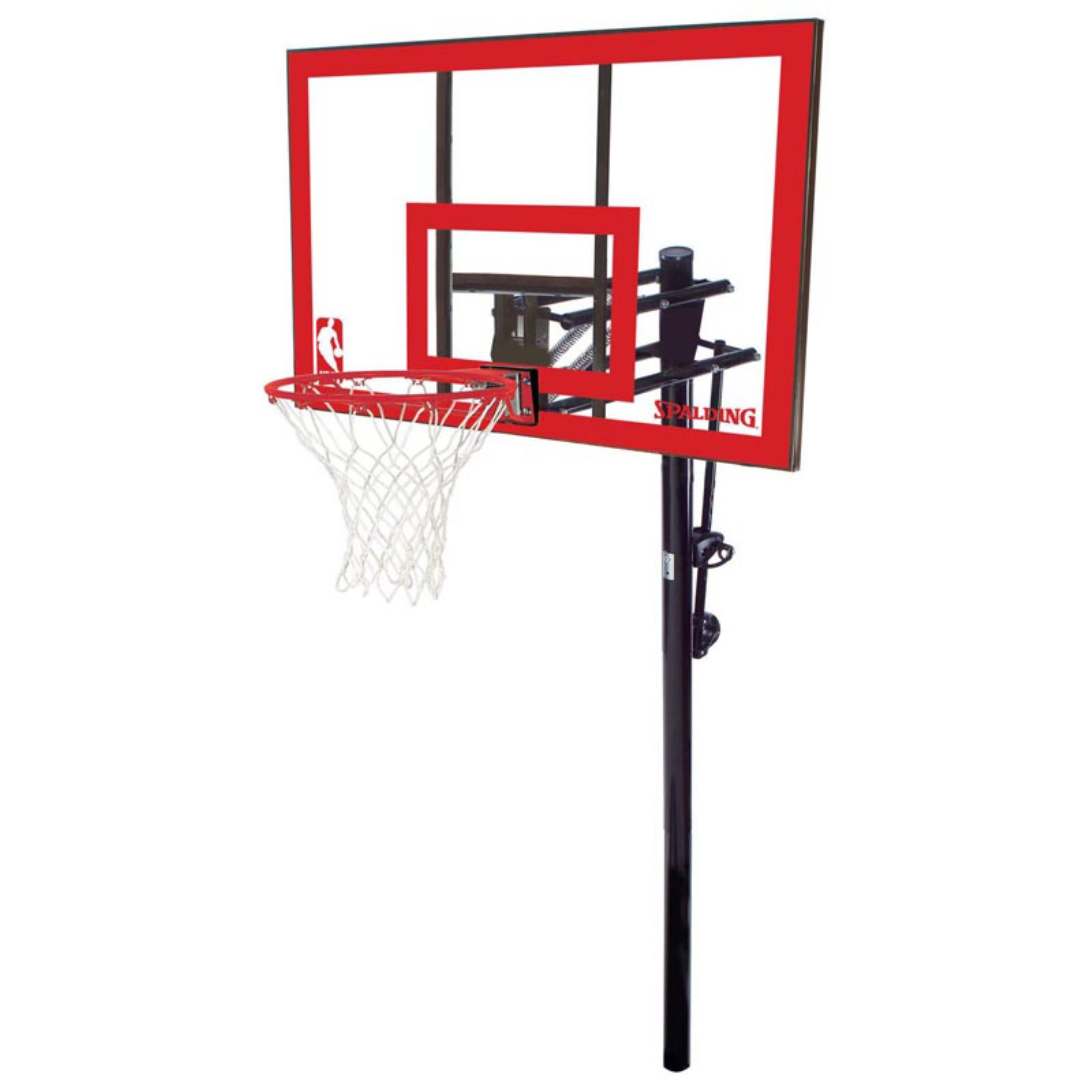 "Spalding NBA 48"" Polycarbonate Pro Glide In-Ground Hoop System"