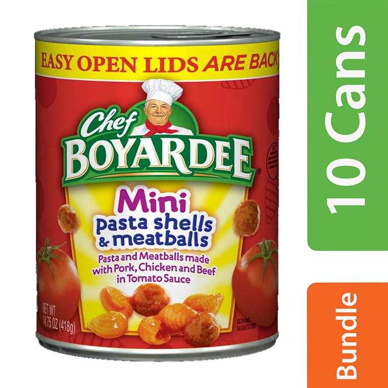 (10 Pack) Chef Boyardee Mini Pasta Shells and Meatballs, 14.75 oz
