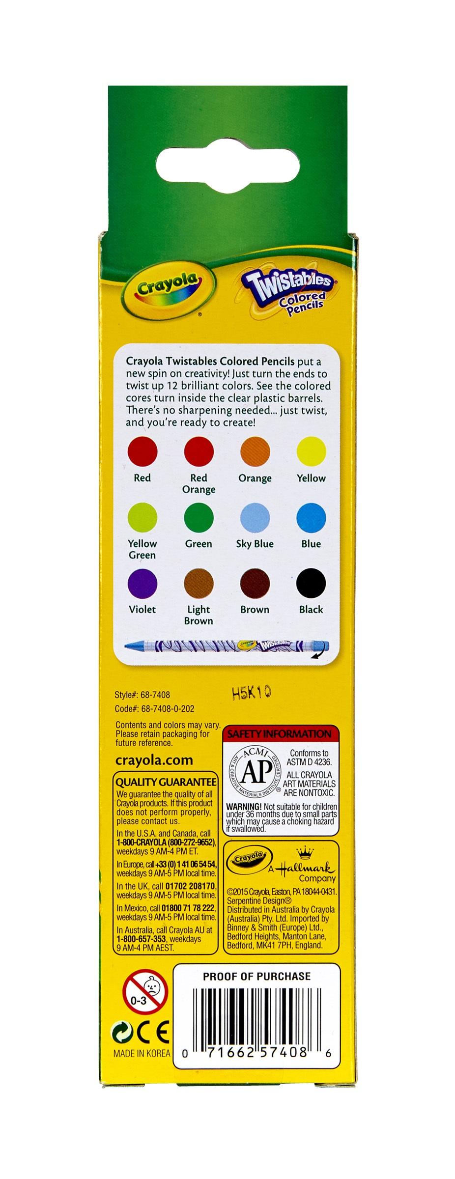 crayola 12 count twistable colored pencils walmartcom - Crayola Colored Pencils Twistables