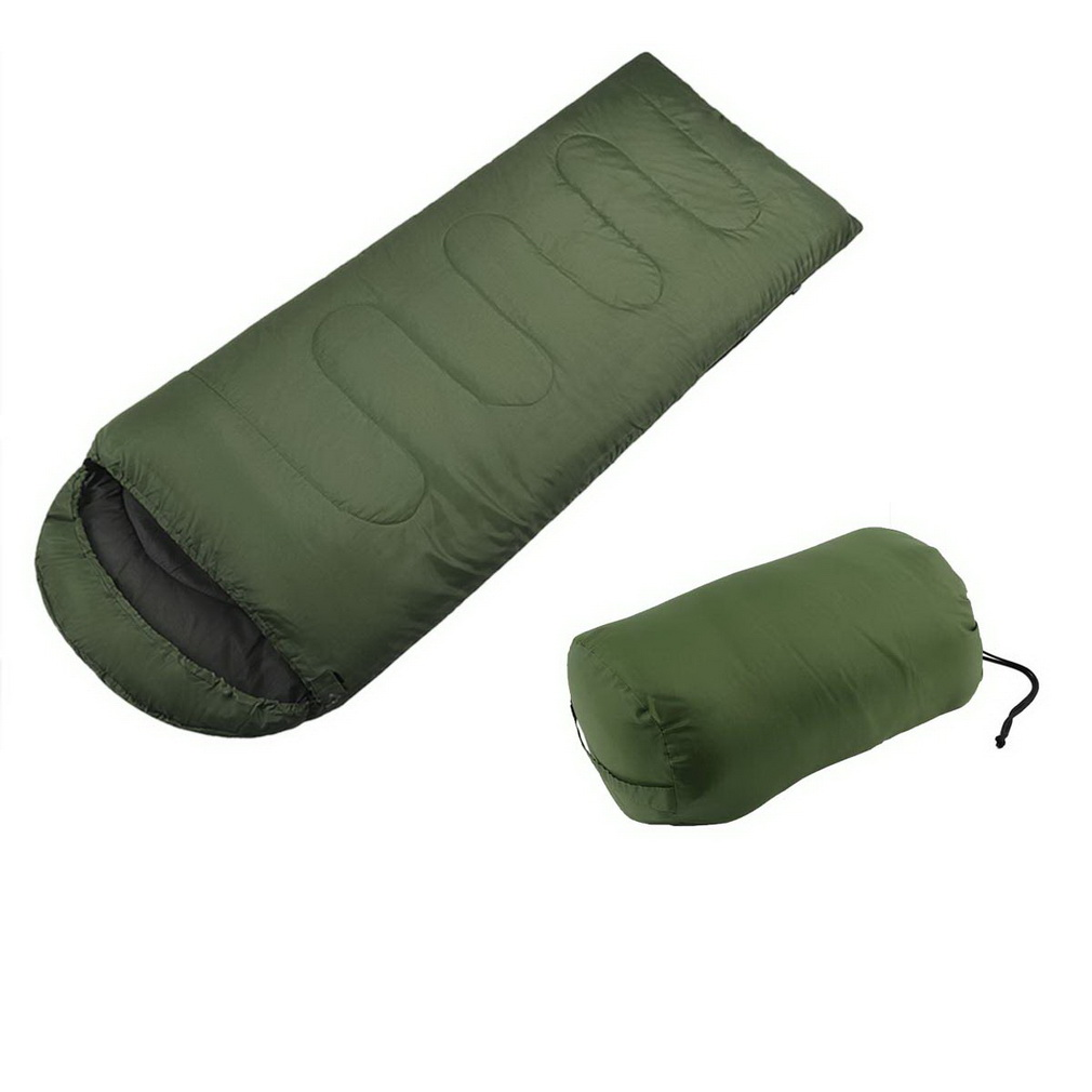 Portable Single Travel Outdoor Camping Hiking Envelop Sleeping Bag Pad for Adults with Carry Bag