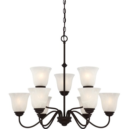 Volume Lighting V2269 Hammond 9 Light 30u0022 Wide Chandelier