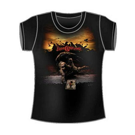 Insane Clown Posse  Crow Girls Jr Tissue Tee Black Crow Kids T-shirt