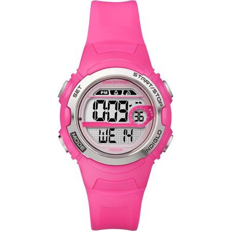 Marathon by Timex Women's Digital Mid-Size Watch, Bright Pin
