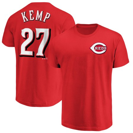 Matt Kemp Cincinnati Reds Majestic Logo Official Name & Number T-Shirt - Red