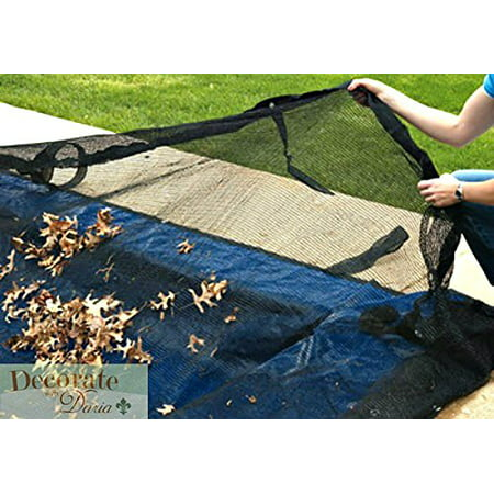 14 Ft x 28 Ft Leaf Net Inground Pool Debris Trap Mesh Cover Rectangle Ultra Armor Maxx 4 Foot Overlap 3 Year Warranty