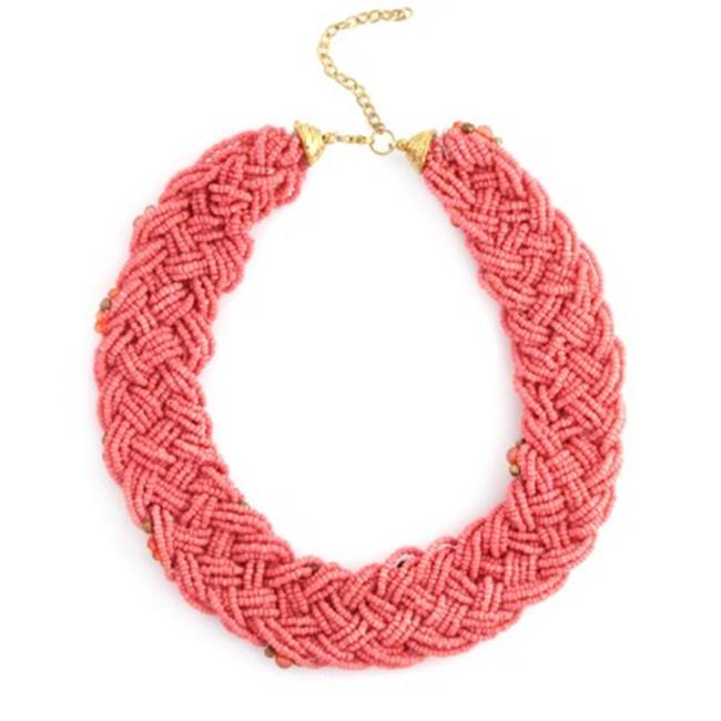 C Jewelry Gold And Coral Bead Necklace