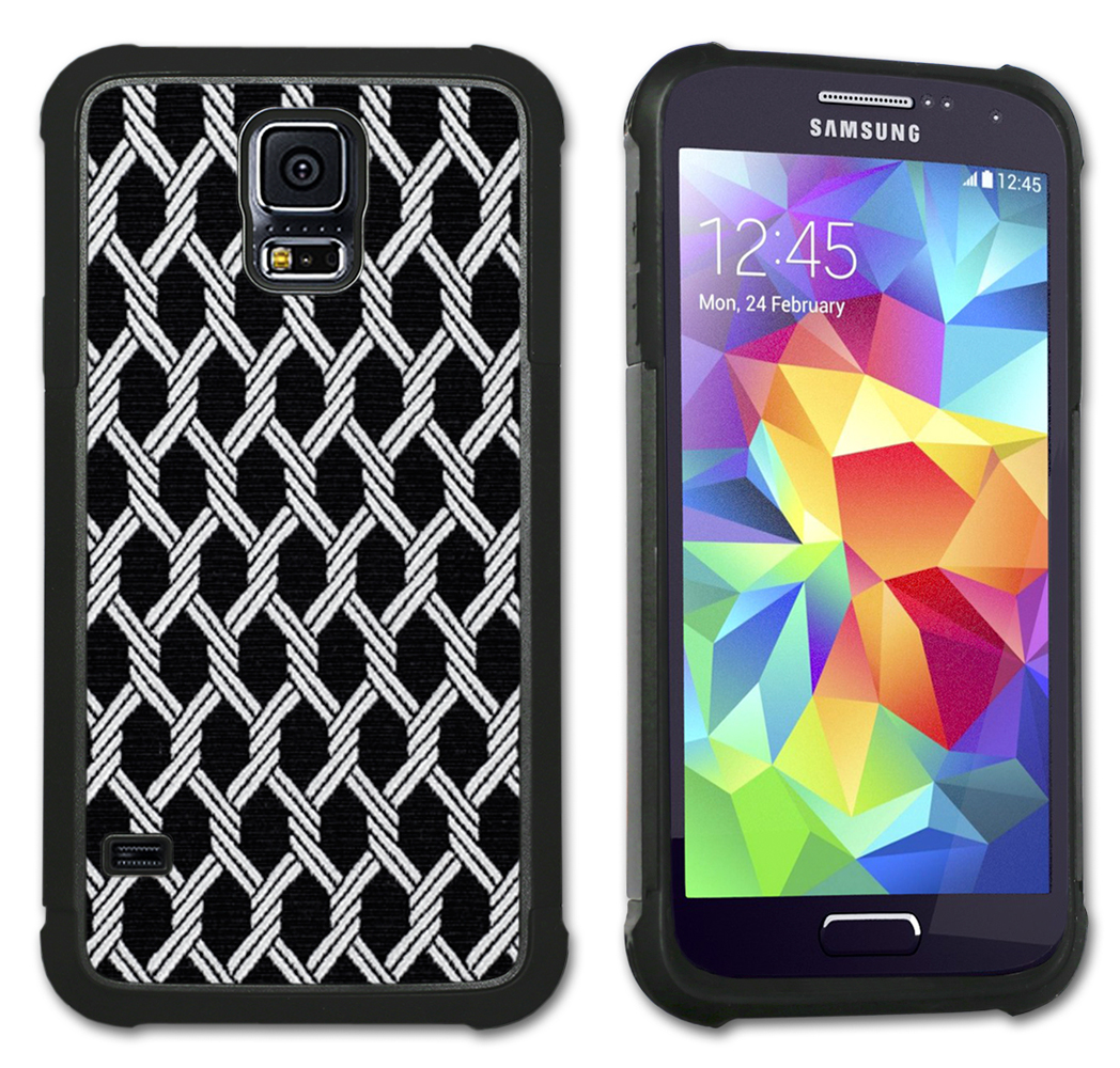 Maximum Protection Cell Phone Case / Cell Phone Cover with Cushioned Corners for Samsung Galaxy S5 - Chains