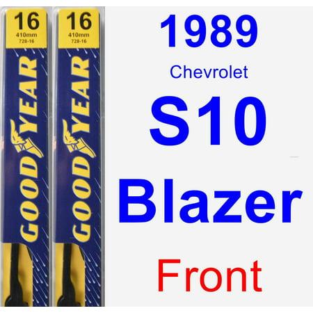 Chevrolet S10 Blazer Wiper - 1989 Chevrolet S10 Blazer Wiper Blade Set/Kit (Front) (2 Blades) - Premium