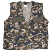 Quiet Wear QuietWear Camoflauge Polyester Hunting Vest with Nylon Game Bag XL
