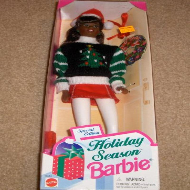 Mattel African American Holiday Season Barbie Doll Special Edition