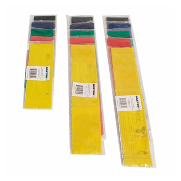 CanDo exercise Tubing-with-Handles, full body set, 5 pc set (1 ea: yellow through black)