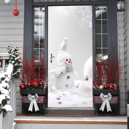 Christmas Snowman Door Cover Cover Holiday Christmas Door Covers Decoration