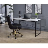 """Home 47 """" Large Study Writing Desk, Students Study Writing Desk with Veneer Tabletop Board and Black Iron Frame, for Restaurants, Banquet, Meeting/Waiting Room, Easy to Assemble, 50 lbs, S5744"""