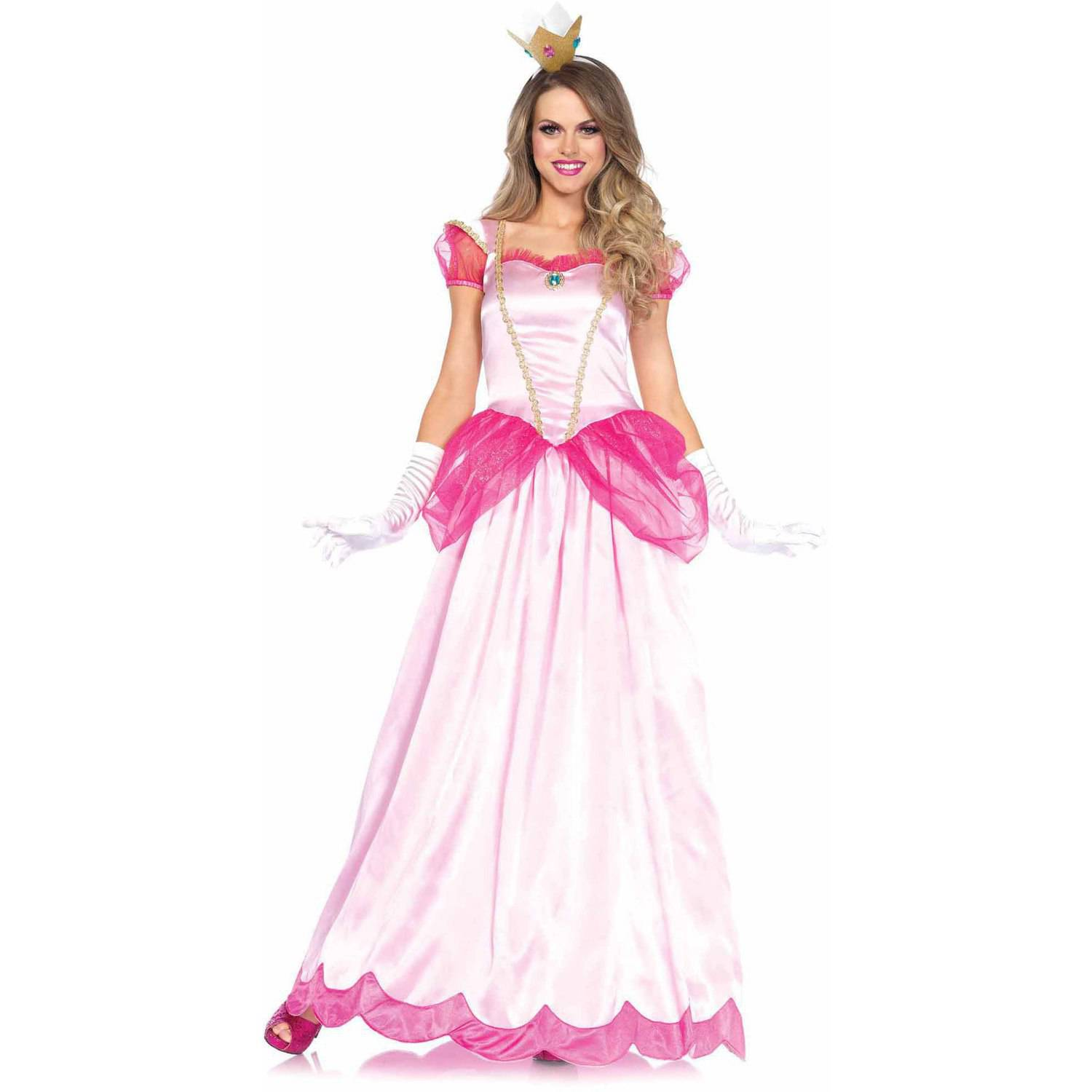 Leg Avenue 2-Piece Classic Pink Princess Adult Halloween Costume - Walmart.com  sc 1 st  Walmart : adult cartoon character costumes  - Germanpascual.Com