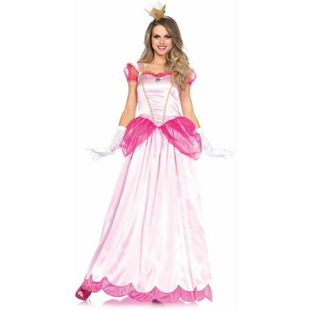 Leg Avenue 2-Piece Classic Pink Princess Adult Halloween Costume (Princess Peach Costume Women)
