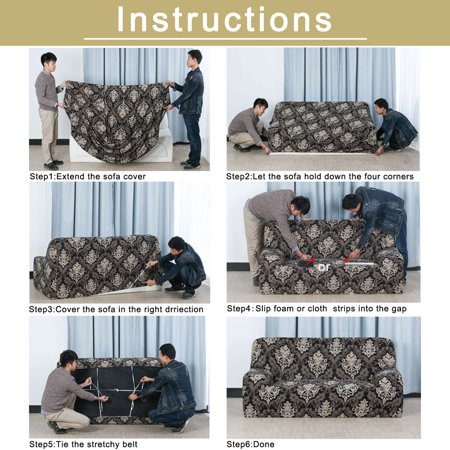 Family Polyester Elastic 1 Seat Removable Chair Cover Protector Gray 90-140cm - image 6 de 7