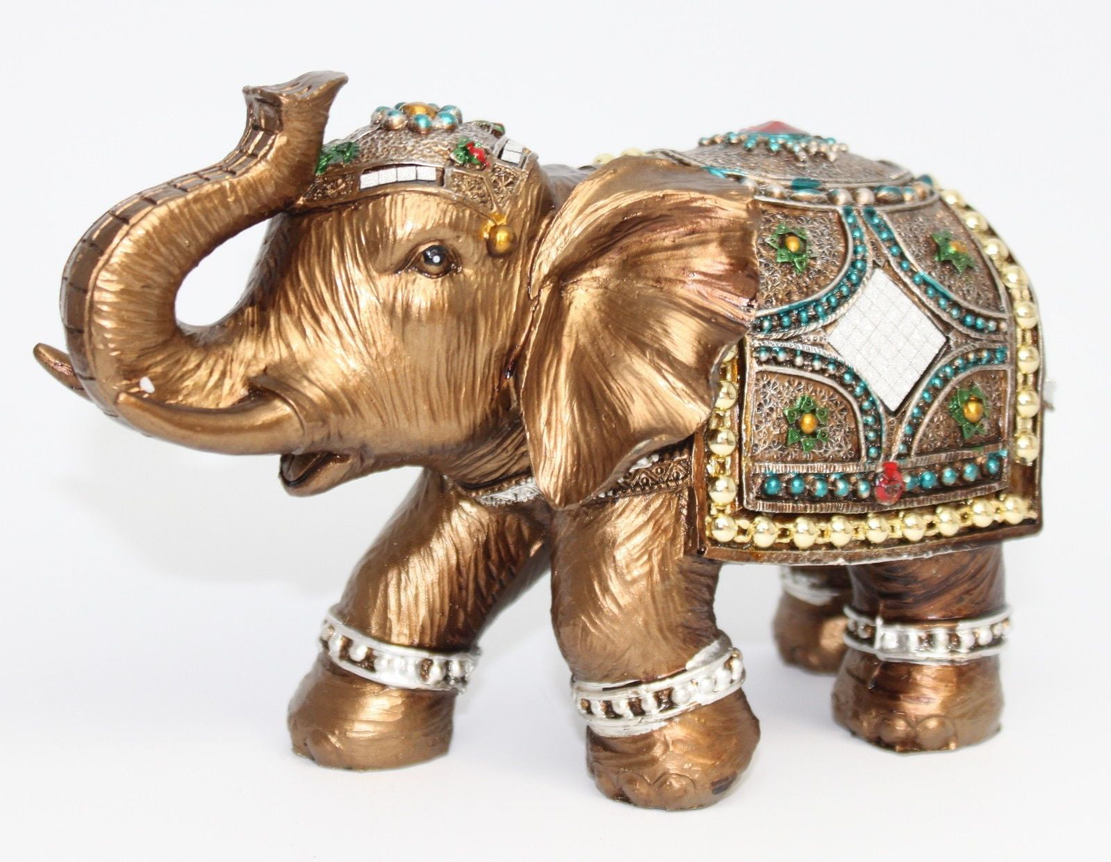 Feng Shui 6 Elegant Elephant Trunk Statue Lucky Figurine Gift
