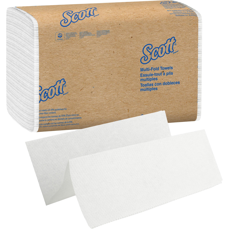 Scott, KCC01804, MultiFold Paper Towels, 4000 / Carton, White