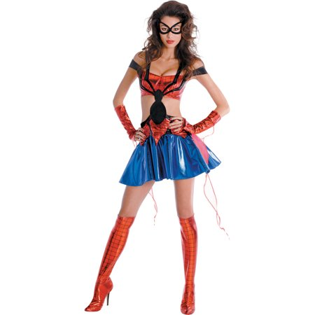 Womens Spiderman Costume Movie Costumes Sexy Spiderman Costume Sizes: Large (Spider Woman Costumes)