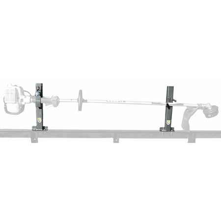 Locking Single Trimmer Rack for Open Trailers by PACK'EM